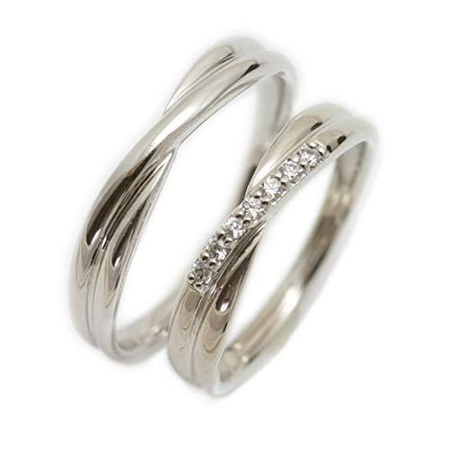 [ココカル]cococaru ペアリング 2本セット プラチナ Pt900 マリッジリング 結婚指輪 ダイヤモンド 日本製 】(レディースサイズ4号 メンズサイズ5号)