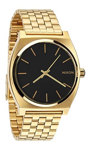 NIXON Time Teller, Reloj Hombre Dorato - Acero Inoxidable (Dorado Negro)