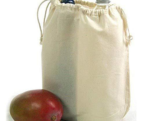 Bolsa de lino (28x32x10cm) Natural Con Cordones, suela sintética Semi-terminados, de Seda