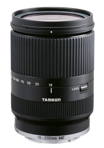 Tamron 18-200 mm F/3.5-6.3 Di III VC Objektiv für Canon EOS-M Bajonettanschluss schwarz