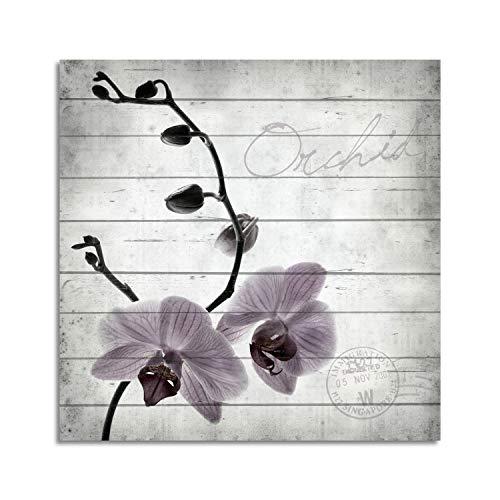 Cuadros Lifestyle Cuadro de madera | Cuadro de madera | Aspecto Shabby | Casa de campo | Orquídeas...