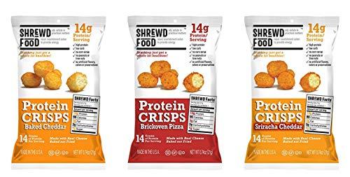 Shrewd Food Protein Crisps (16-Pack of .74oz Bags) GF (3 FLAVOR 16 PK)