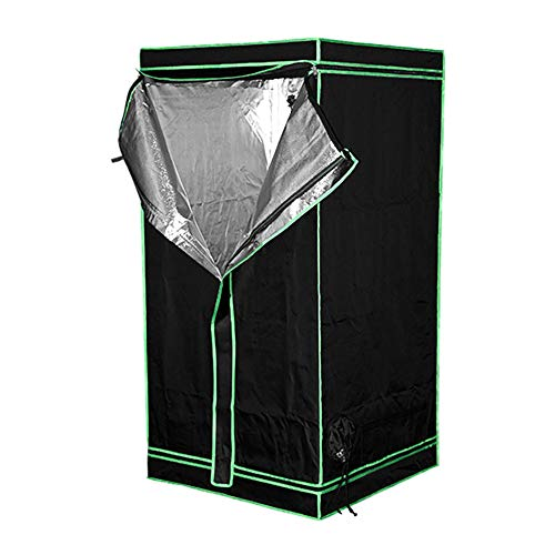 HWHSZ Grow Tent, 600D Grow Box, Hydroponic Grow Tent for Indoor Plant Growing, Greenhouse Agriculture Planting Tent Flower Plant Warm Tent, Reflective Mylar Non Toxic,80 * 80 * 160cm