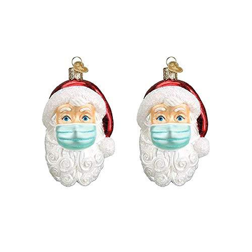 AGDLLYD Anhänger Weihnachtsmann mit Maske, Weihnachtlicher Baumschmuck Weihnachtsbaum Anhänger Christbaumschmuck Weihnachtsgeschenke (2 Stück)