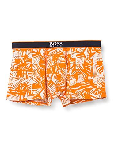 BOSS Herren Trunk 24 Print Boxershorts, Dark Orange804, M