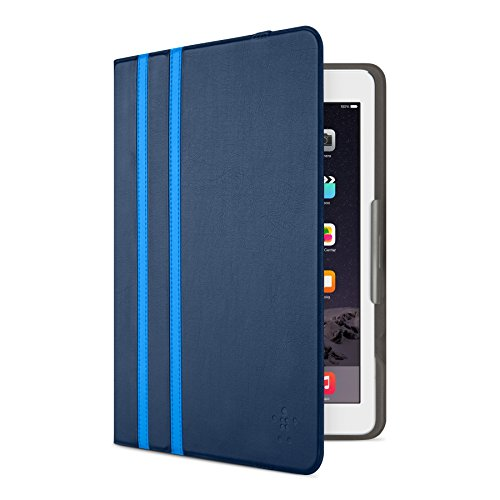 Belkin Twin Stripe Folio Case with Multiple Viewing Angles for iPad Air/iPad Air 2/iPad 2017 - Deep Sea Blue