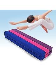 Balansbalk van 220 cm voor gymnastiektraining, opvouwbaar, van kunstleer, voor training thuis of in de sportschool.
