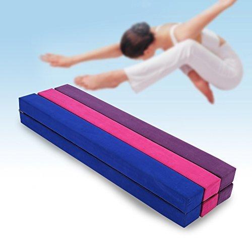 220 cm / 7.2 pies Equilibrio Beam de Entrenamiento de Gimnasia,Balance Beam de Gamuza Sintética Plegable, Ejercicio de Entrenamiento Deportes en Casa o Gimnasia (Púrpura)