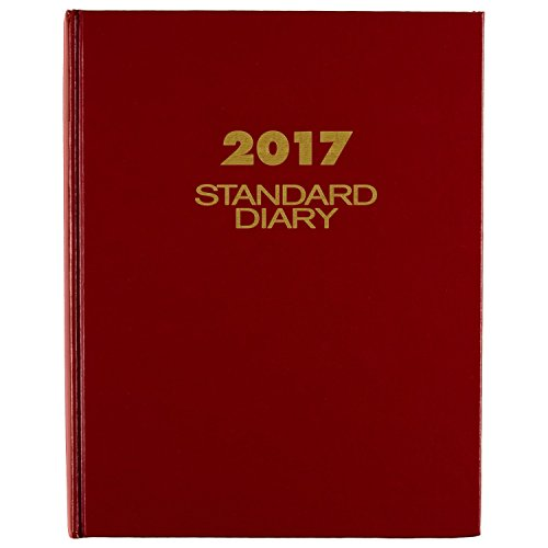 """AT-A-GLANCE Diary 2017, Daily, Standard, 7-1/2 x 9-7/16"""", Red (SD37413)"""