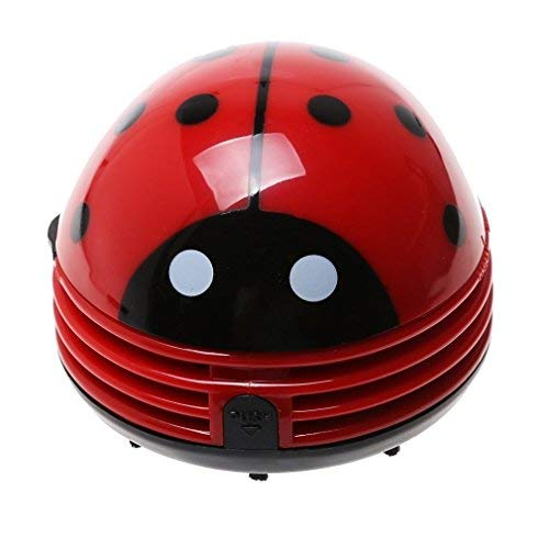 DMZK Aspirateur de table 'coccinelle' Réf électrique, Aspirateur Collecteur de Poussière Forme de Coccinelle, Rouge