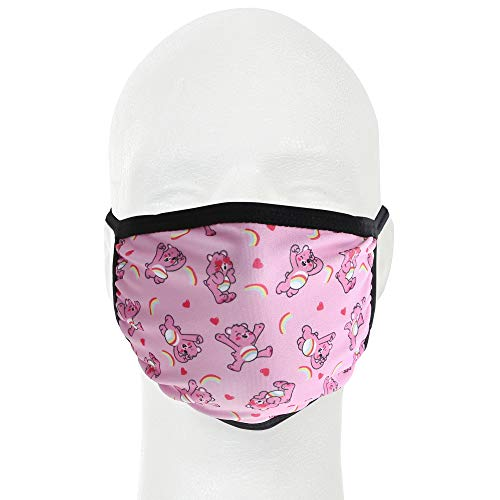 Care Bears All Over Print Gathered Mask, Pink – Adult Face Cover