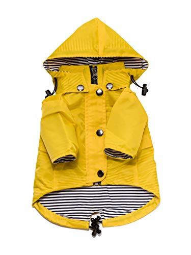Ellie Dog Wear Yellow Zip Up Dog Raincoat