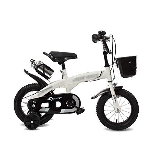 MFB Kids Bike Ragazze dei Ragazzi in Acciaio 3-9 Anni 12 da 14 Pollici rotelle di addestramento Bianco Kids Biciclette (Taglia : 12inch)