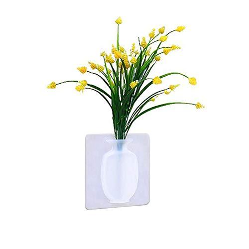 NA vaas mode siliconen bladeren fles sticker vaas lichaam voor glazen wand bloempot