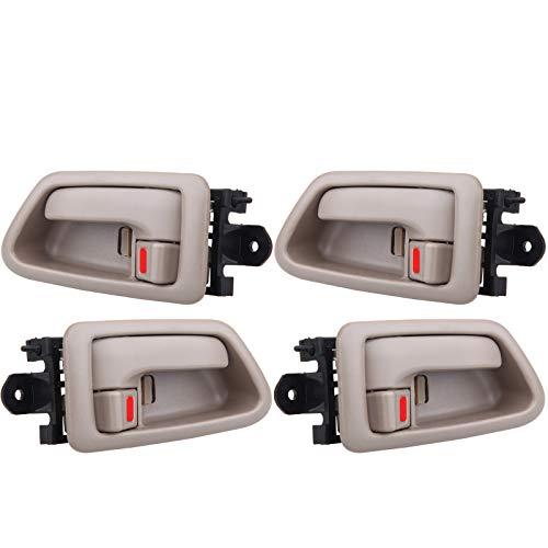 OCPTY Door Handles Interior Front Rear Driver Passengere Side Replacement fit 1997-2001 Camry Inside Door Handles Texture Beige(4pcs)