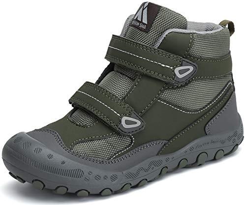 Mishansha Zapatos de Senderismo Antideslizante y Ligero para Unisex-Niños, Talla 24-38