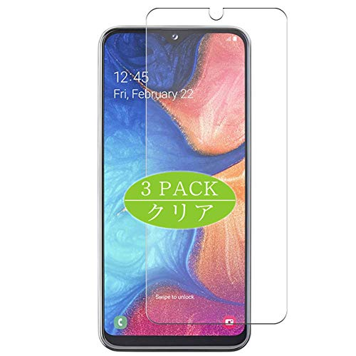 VacFun 3 Piezas Claro Protector de Pantalla, compatible con SAMSUNG Galaxy A20 SC-02M / SCV46, Screen Protector Película Protectora(Not Cristal Templado) NEW Version