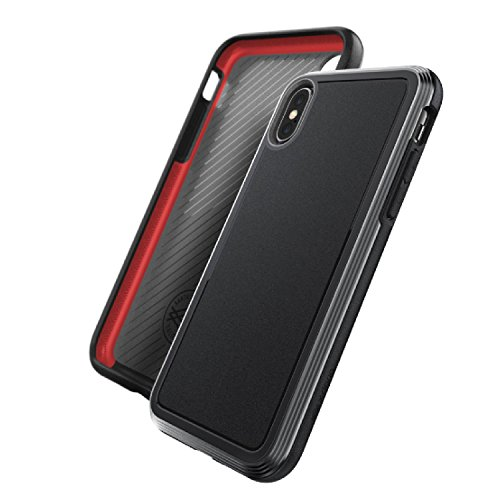X-Doria iPhone X, iPhone Xs Case, Defense Ultra - Heavy Duty Protective Case with Anodized Aluminum Frame, Military Grade Drop Tested Case for Apple iPhone X, iPhone Xs, iPhone 10, [Black]