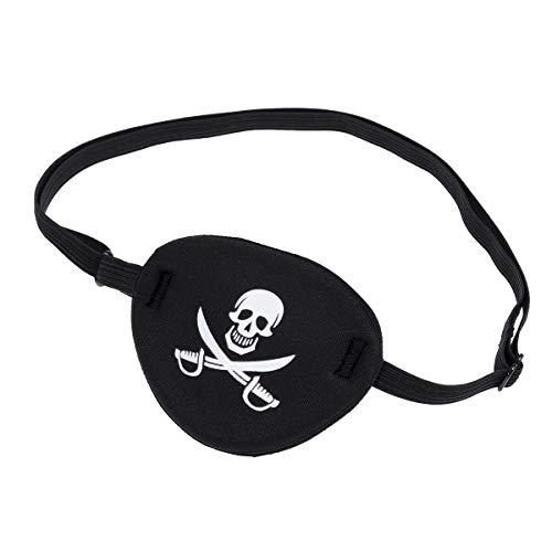 WINOMO Pirate Skull Kinder Kinder Augenklappe Augenmaske für Faule Auge (Schwarz)