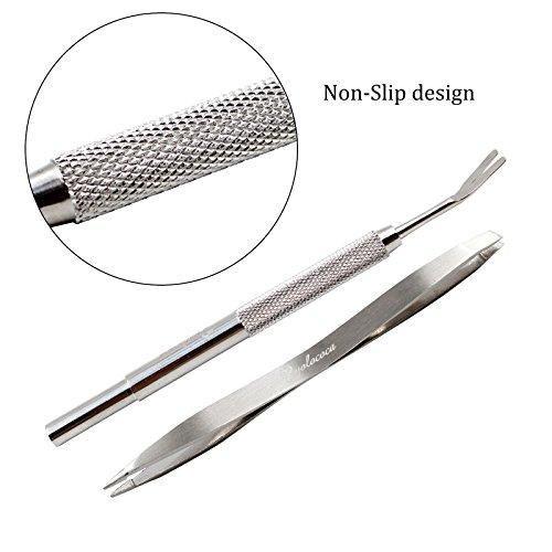 Yolococa Tick Remover Tool Set–rimuove zecche e pulci Facilmente. Evita Nasty plastiche e pesticidi