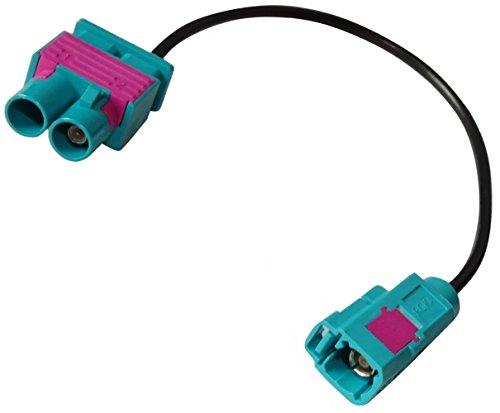 AERZETIX: Connecteur câble 20cm Adaptateur fiche antenne FAKRA Femelle Vert vers Double FAKRA mâle pour Auto Voiture