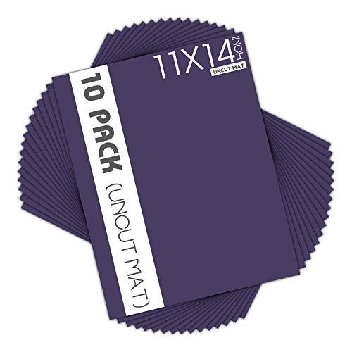 Mat Board Center, Purple Color Uncut Mats - Full Sheet - for Art, Prints, Photos, Prints and More, 10 Pack, 11x14