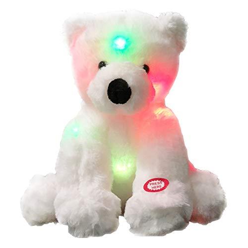 La Muñeca De Oso Polar Brillante Duerme con Juguetes De Peluche para Niños Relajantes, Juguetes De Peluche De Rompecabezas, Regalos para Niños Y Niñas