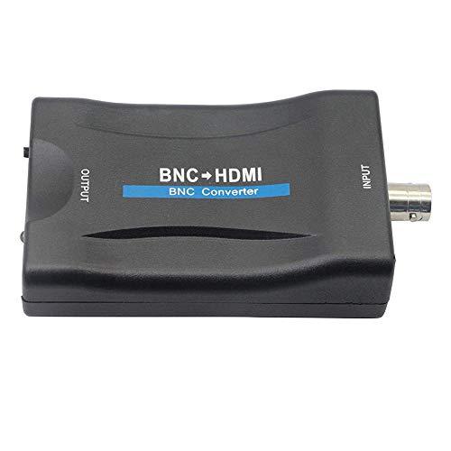 Convertitore BNC a HDMI, adattatore convertitore video BNC femmina a HDMI, ingresso CVBS analogico connettore composito HDMI gancio per monitor TV HD telecamera di sicurezza CCTV VCR DVR 1080P HDCP