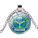 Collar con colgante de cabujón de cristal de la fuerza del cohete de la INGENIERÍA rusa clásica para las mujeres, gargantilla militar, regalo de amistad