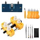 Beanlieve Watch Repair Tool Kit, Adjustable Watch Case Opener Watch Back Remover, Watch Battery Replacement Tool Kit For Various Kinds of Watch (12 PCS)