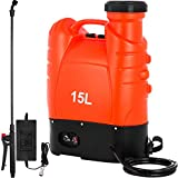 Happybuy Battery Powered Backpack Sprayer 4 Gallon Battery Operated Sprayer 12 Volt...