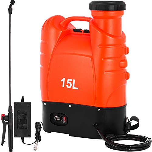 Happybuy Battery Powered Backpack Sprayer 4 Gallon Battery Operated Sprayer 12 Volt Electric with...