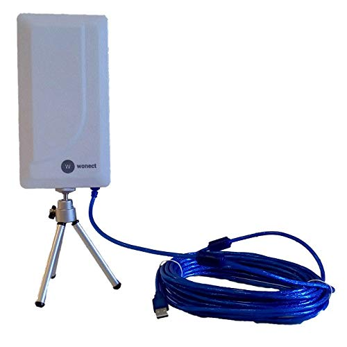 Antena Melon Exterior Wi-Fi Planar N89 con 10 Metros Cable 24dbi. 10m USB WiFi Wireless Compatible auditoria