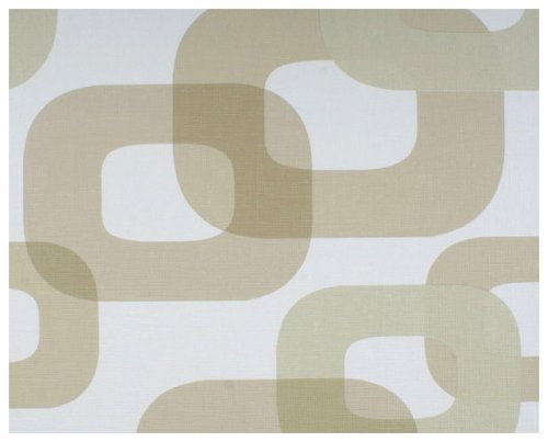 Lars Contzen Vliestapete Tapete Retro Style 10,05 m x 0,53 m beige weiß Made in Germany 623140 6231-40