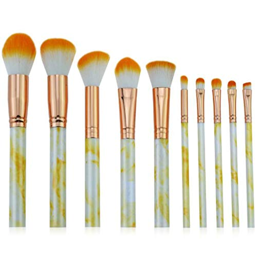 Beauty Make-up-Tool Weiche Foundation-Bürste 10 Stück Set, Professionelle Make-up-Pinsel (Farbe :...