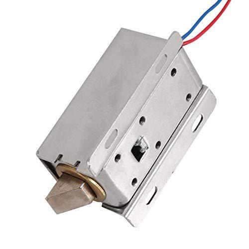 Cerradura de control eléctrico Cerradura de solenoide eléctrica de 9,6 W Voltaje de cable de cobre completo DC12V para gabinete