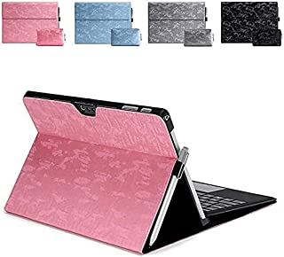 ICYSTOR PU Leather Folio Stand Case for Surface Go Go2 Keyboard shell Bag FLip Cover for Microsoft Surface pro 7 6 5 4 3 X...