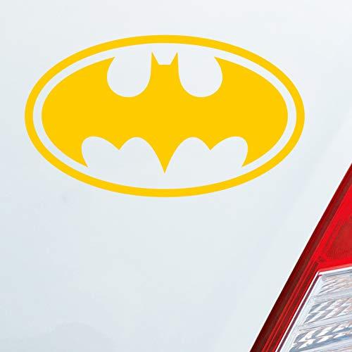 Auto Aufkleber in deiner Wunschfarbe Logo für Batman Fans Joker Dark Knight 6x10cm Autoaufkleber Sticker Folie