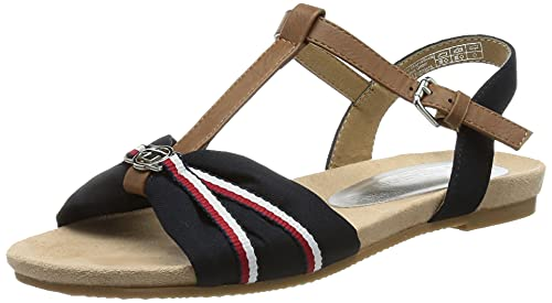 Tom Tailor Damen 1192214 Sandale, Navy, 38 EU