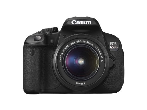 Canon EOS 650D + EF-S 18-55 IS II + EF-S 55-250 IS II - Cámara Digital (18 MP, SLR Kit, CMOS, Canon EF, Canon EF-S, TTL, Servo Auto Focus) Negro