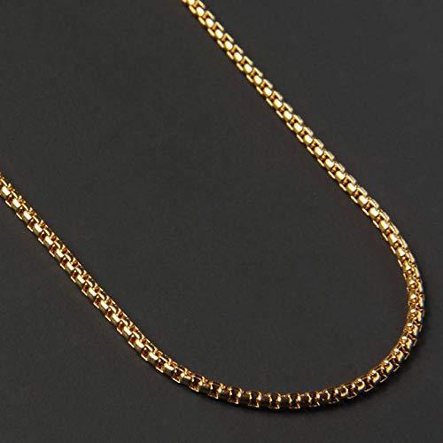 LHXMY Glamour Heren Ketting Heren Zilveren Goud Zwart Titanium Steel Ketting Heren Ketting Gift, Goud, 65Cm