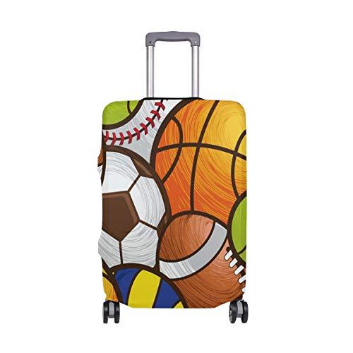 Sport Muster Fußball Baseball Basketball Gepäckabdeckung Gepäckkoffer Reiseschutz Fit für 18-32 Zoll