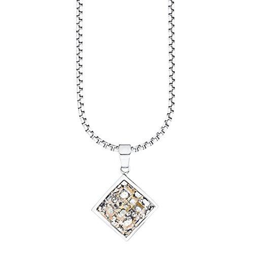 s.Oliver Damen-Kette mit Anhänger Swarovski Elements Edelstahl Kristall mehrfarbig 45 cm - 524636