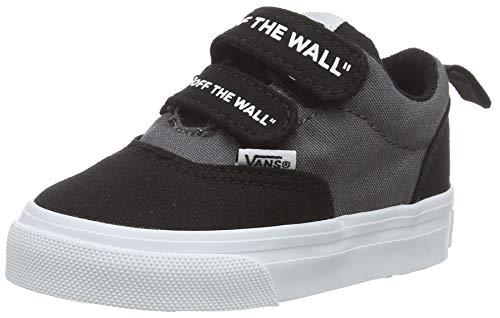 Vans Doheny V-Velcro, Sneaker Unisex-Bambini, Multicolore ((Otw) Black/White LRN), 21 EU