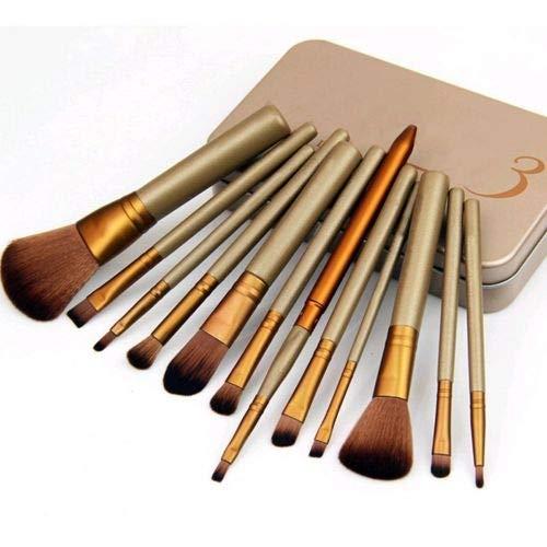 Pinceaux de maquillage cosmétiques professionnels Set 12pcs poudre poudre fard à paupières lèvre Set supérieur