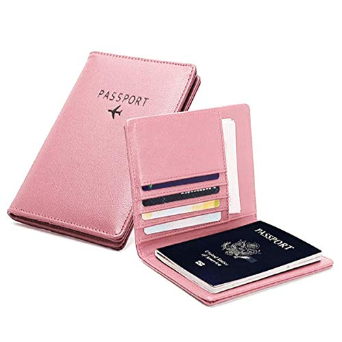 PALMFOX Portafoglio da viaggio in pelle Custodia per passaporto Blocco RFID Case Custodia per carte in pelle, custodia per documenti di viaggio, inclusa 7 colori.