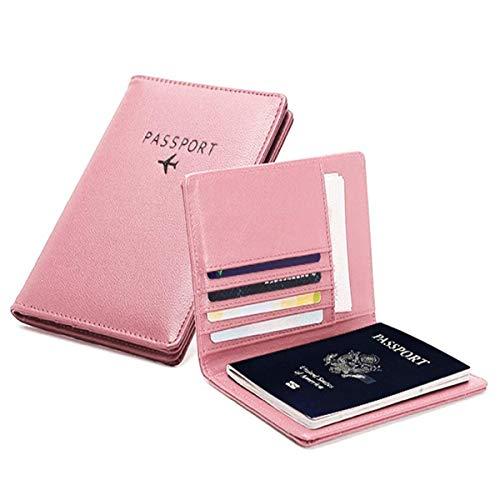 PALMFOX Portefeuille de Voyage en Cuir Porte-Passeport Cover RFID Blocking Case Étui pour Cartes en Cuir, étui pour Organisateur de...