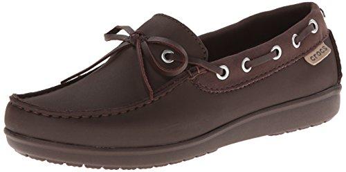 crocs Wrap Colorlite Loafer Damen Slipper & Mokassins, Braun (Mahogany/Mahogany), 33/34 EU