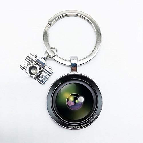 aolongwl Llavero popular llavero cámara colgante con lente SLR fotógrafo SLR entusiasta llavero personalidad joyería regalo entre amigos 3