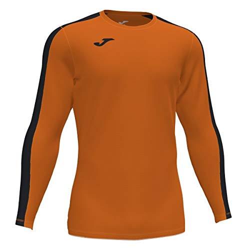 Joma Academy Camiseta Juego Manga Larga, Hombre, Naranja-Negro, L